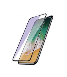 Baseus 0.3mm Diamond Body All-screen Arc-surface  Anti-Bluelight Tempered Glass Film For iPhone X Black (SGAPIPHX-BJG01)