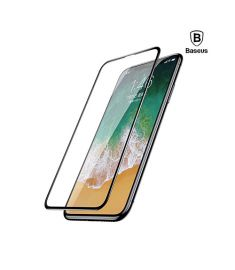 Baseus 0.23mm Drop-proof Curved Full Screen Tempered Glass Film Black - SGAPIPHX-RA01