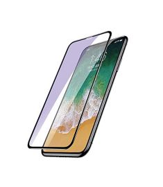 Baseus 0.2mm All-screen Arc-surface Anti-bluelight Tempered Glass Film For iPhone X Black