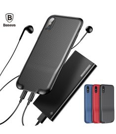 Baseus Audio Case(Audio+Charge, Double lightning) For Iphone X