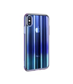 Baseus Aurora Case Transparent  for iPhone X -Blue