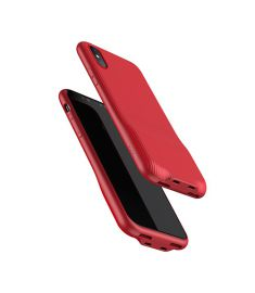 Baseus Audio Case(Audio+Charge, Double lightning) For Iphone X-Red