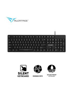 Alcatroz XPLORER K330 Silent Black USB wired keyboard